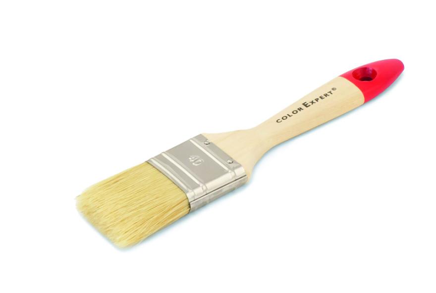 COLOR EXPERT Flat brush 40mm 6th grade mix, light  bristle, hardwood handl