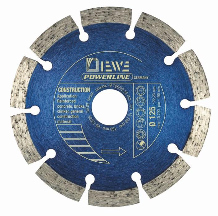 Dimanta ripa celtn. mater. DIEWE power line 125/22.23