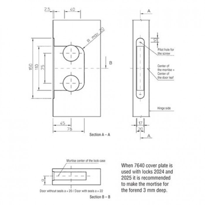 lock+striker plate (for flush door)+screws+key zinc