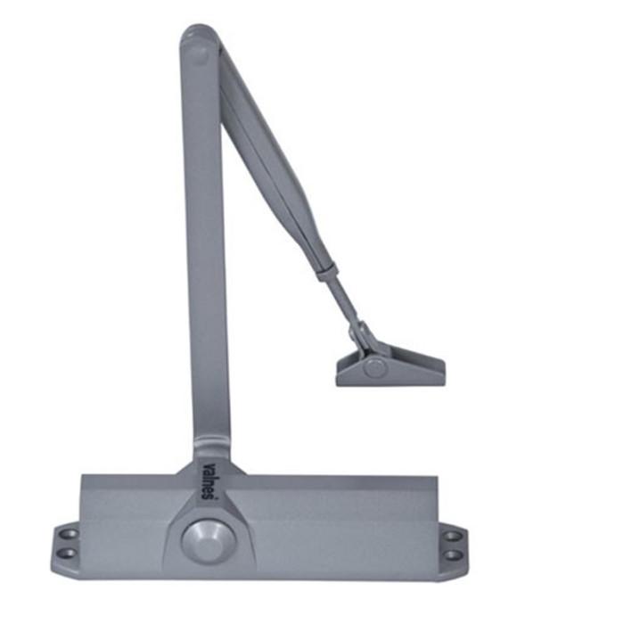 Aizvērējs, standarta vērējroka, bez vēja bremzes, sudraba