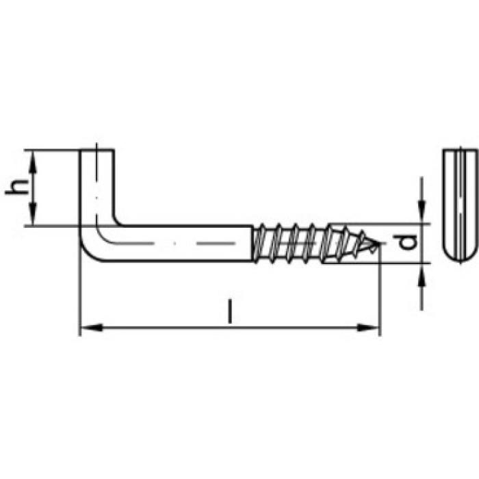L-veida skrūve 4.0x50x18 GV