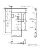 Slēdzene ugunsdr. durvīm 65/72/9 DIN lab, pretpl. 24x235mm
