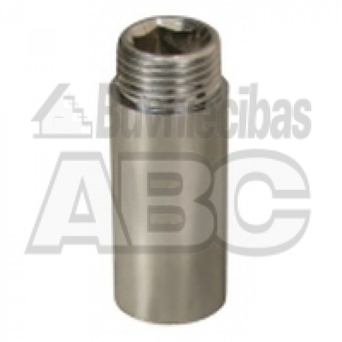 "Brass Extension Piece M-F 1/2"" 50mm."