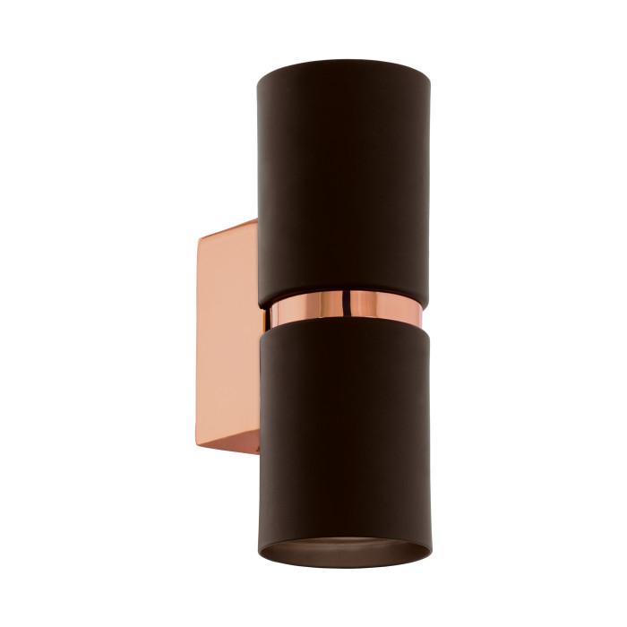 Sienas lampa EGLO Passa GU10 LED 2X3.3W 2X240lm apaļa brown cooper 95371