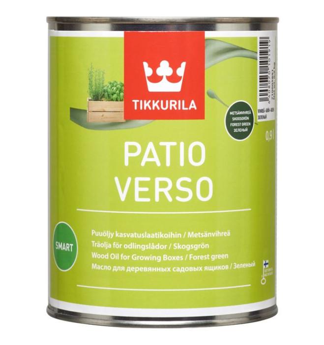 Tikkurila PATIO VERSO 0.9L Zaļa ūdens bāzes eļļa kokam