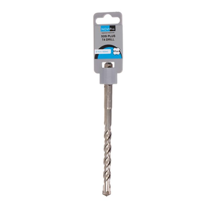 Hammer drill bit SDS plus S4 10x100/160mm NOVIPRO