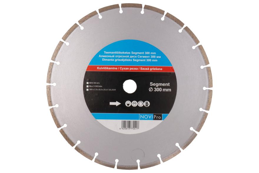 Segmented diamond disc 300mm, Novipro