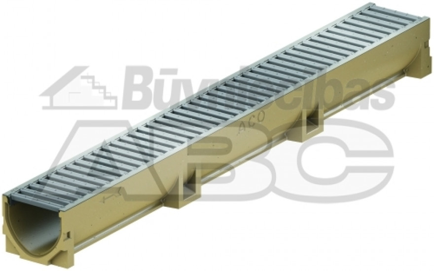 Channel 1000x118x100 EUROLINE with zn steel grating, 38700