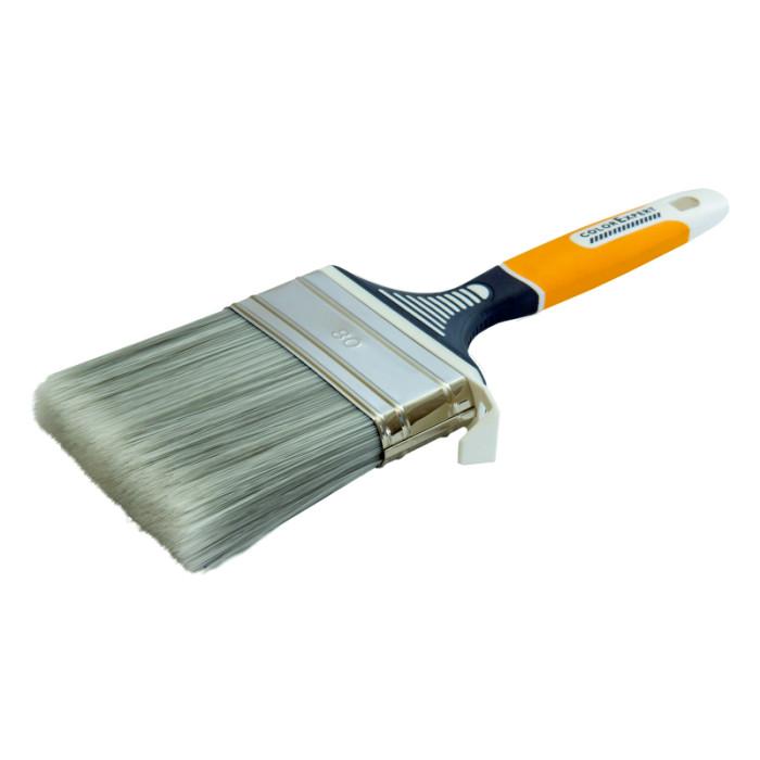 COLOR EXPERT Flat brush 80mm, gr.9mm, PBTmix grey-white, 3K handle