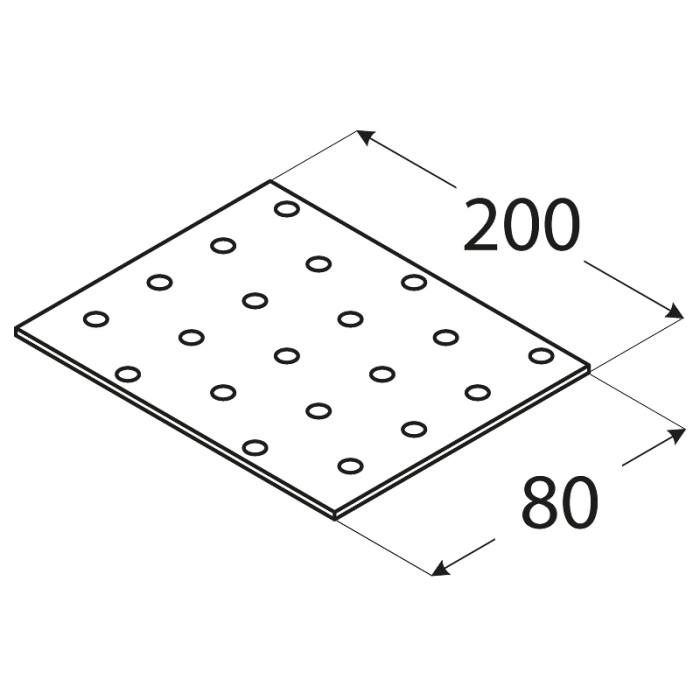 SAVIENOJUMU PLATE  200x80x2.0 mm