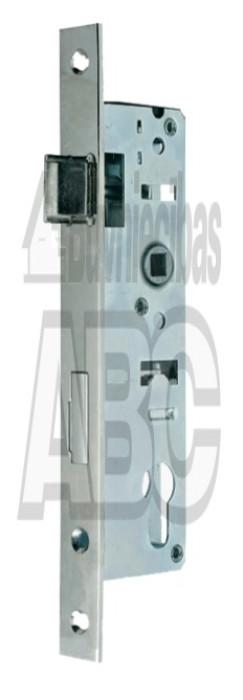 Mortice lock 35 85Y/35mm/22mm aluminium