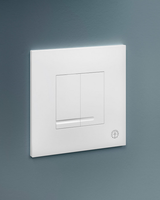 Flush button for fixture XS - wall control panel, square