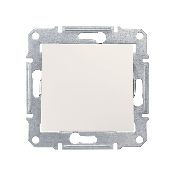 Sedna - 1pole switch - 10AX without frame cream
