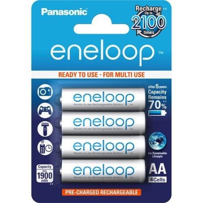 BATERIJA PANASONIC Eneloop  lādējamā AA 1900mAh 4gb/iep