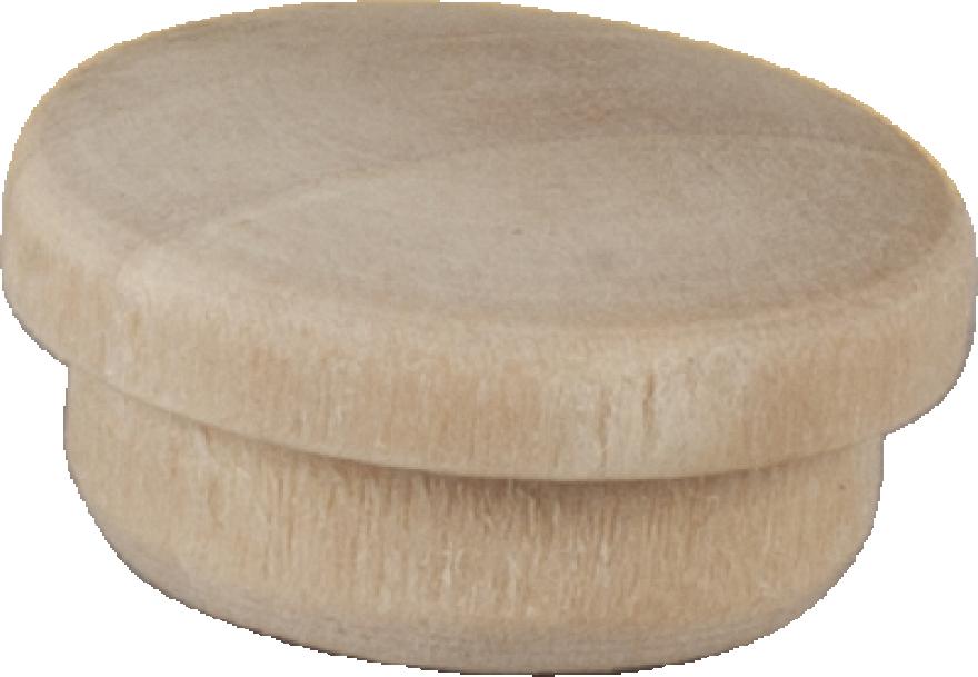 Dekoratīvas cepurītes 14-16mm gaišs koks, 12gab/iep., ESSVE 511217
