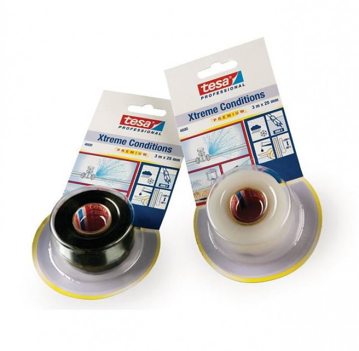 tesa® 4600 Xtreme Conditions 25mmx3m Self-welding silicon tape for an instant hermetic seal