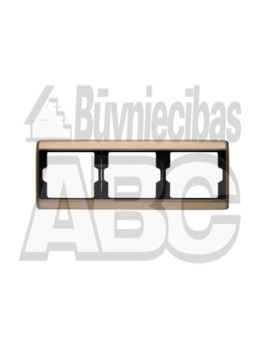 BERKER ARSYS bronze frame horizontal 3gang