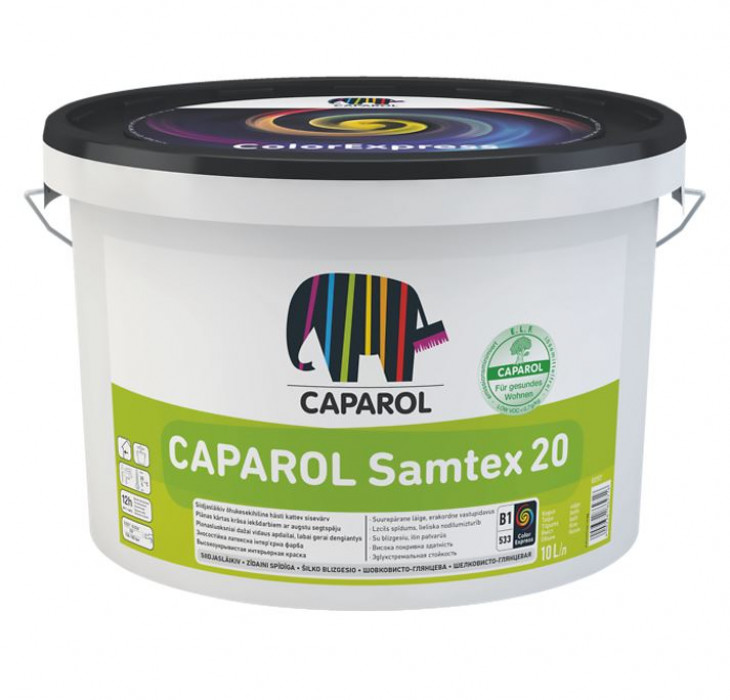 Latex paint Caparol SAMTEX 20 ELF B1 10L
