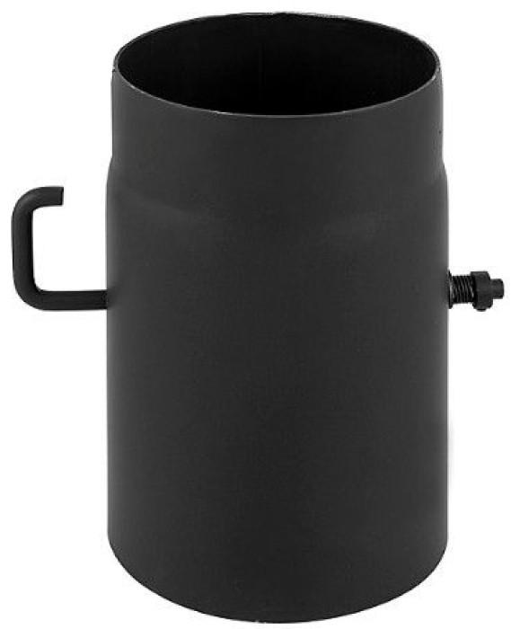 Caurule ar šīberi 200 melna
