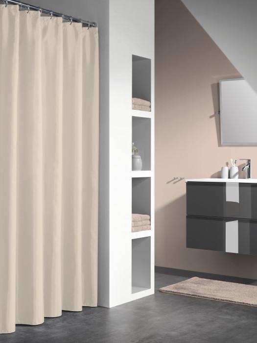 GRANADA shower curtain vinyl, beige, 180x200 cm