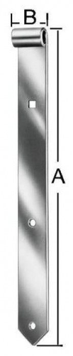 Shutter hinges 400x30x10mm Steel / ZN