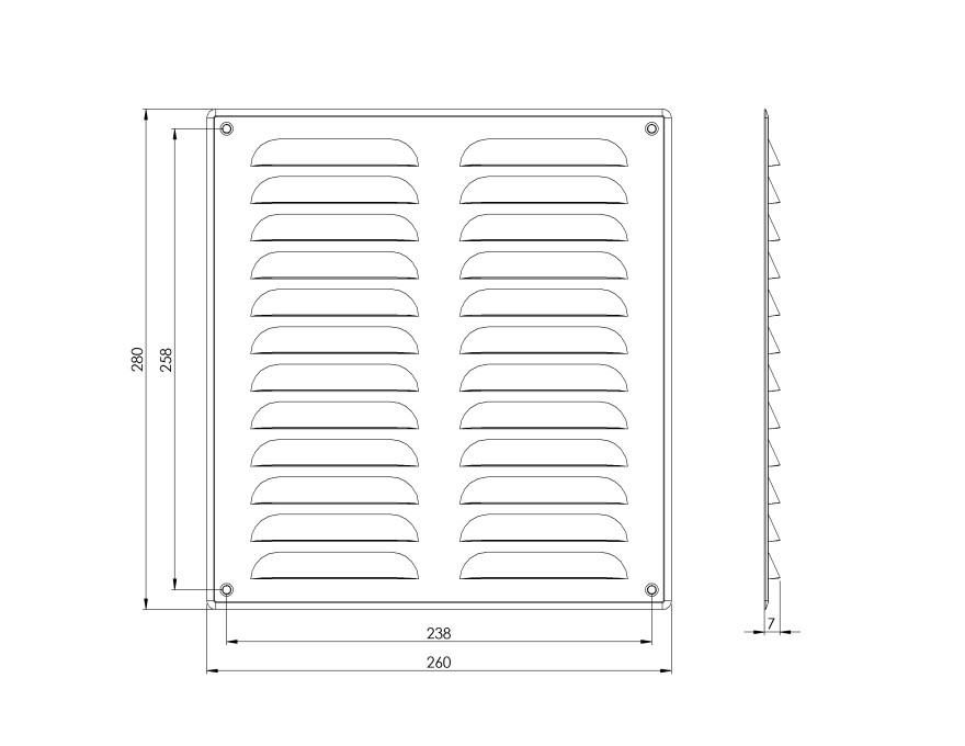 grillemetal,260x280mm,white