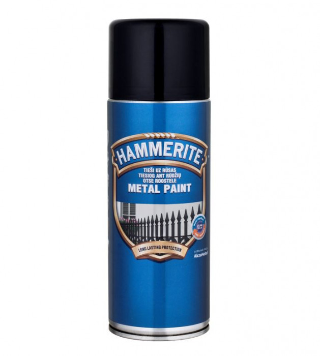 Hammerite Smooth Finish 400ml Black Aerosol