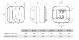 Ūdens boileris Electrolux 10L  virs izlietnes , 2kW EWH EWH 10 Q-bic O