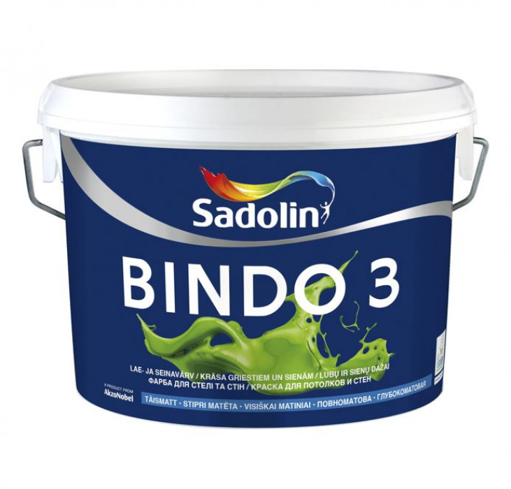 Sadolin BINDO 3 BW 2,5 L paint for ceilings and walls