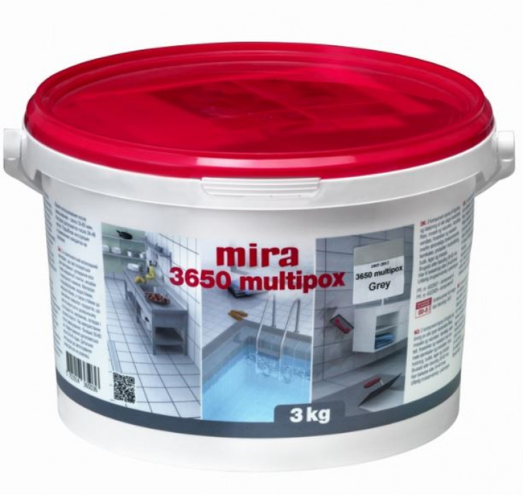 mira 3650 MULTIPOX 3kg ANTHRACITE Epoxy adhesive and grout