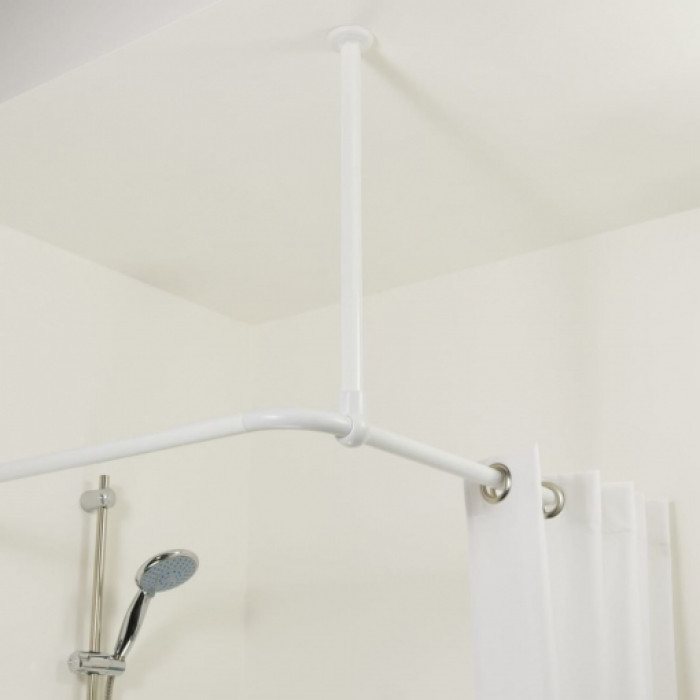 Ceiling support Ø28mm, 56cm, white