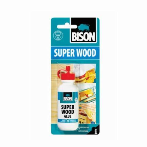 Bison SUPER WOOD GLUE 75g  D3  Līme kokam ārdarbos