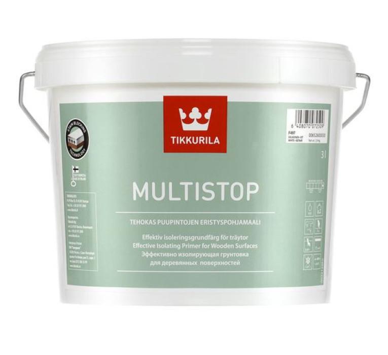 Tikkurila MULTISTOP 3L Sealing primer for wooden surfaces