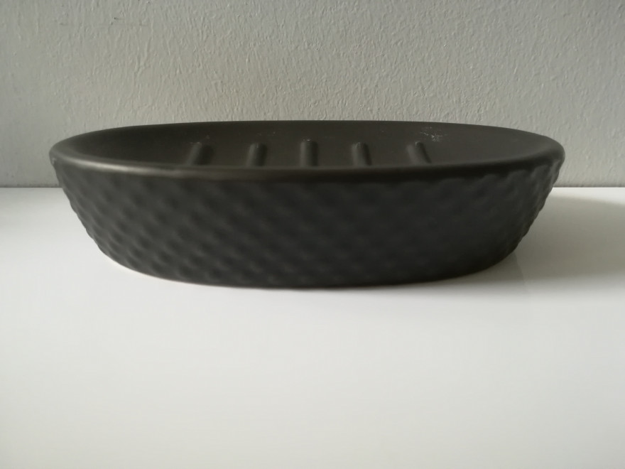 DOTS soap dish, black