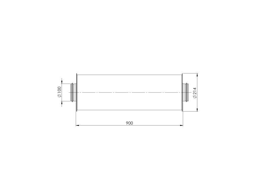 Глушительметаллический,ø100mm-0.9m