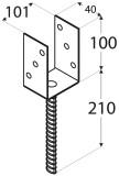 Balsta kurpe u-veida  101x100x5 mm