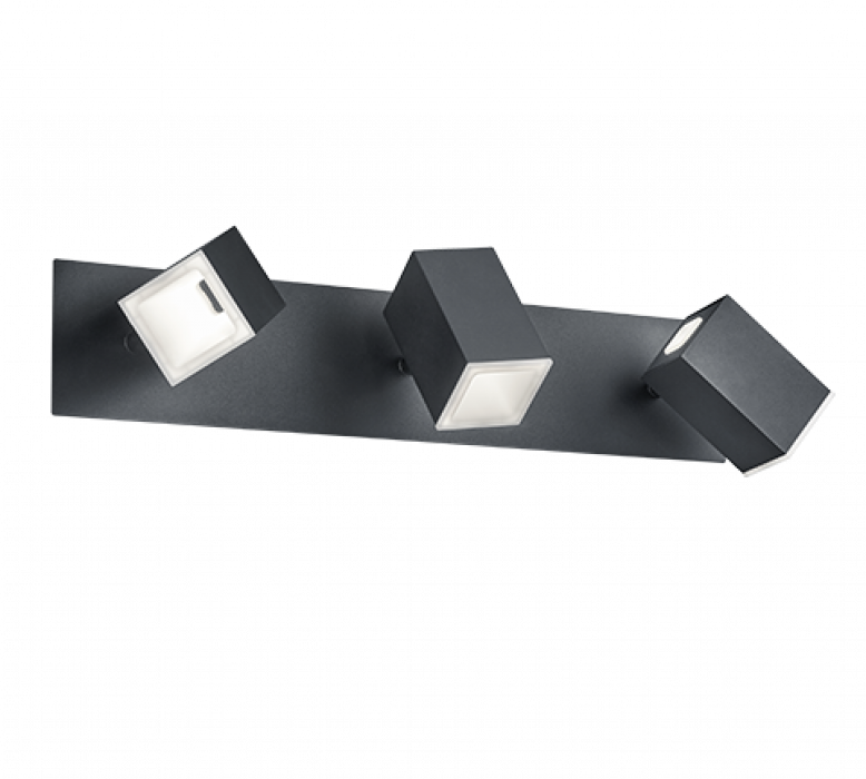Настенный светильник TRIO Lagos 3XLED SMD 6W 3X550Lm 3000K черный 827890332