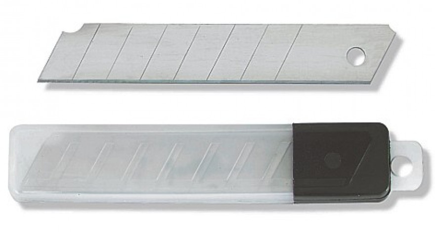 COLOR EXPERT 10x replacement blades 18mm, approx. 0,40mm in dispenser