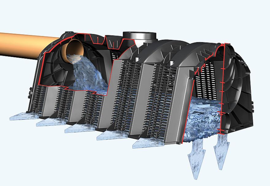 Infiltrācijas tunelis 300 L GRAF, 122x80x51cm, melns 173200