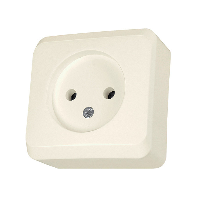 PRIMA - single socket outlet without earth, beige