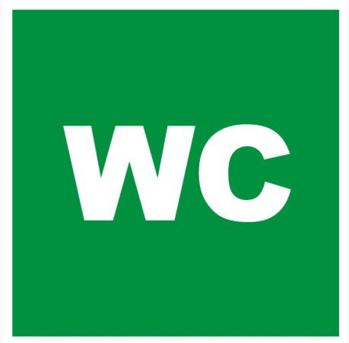 Sign ''WC'' 10x10cm
