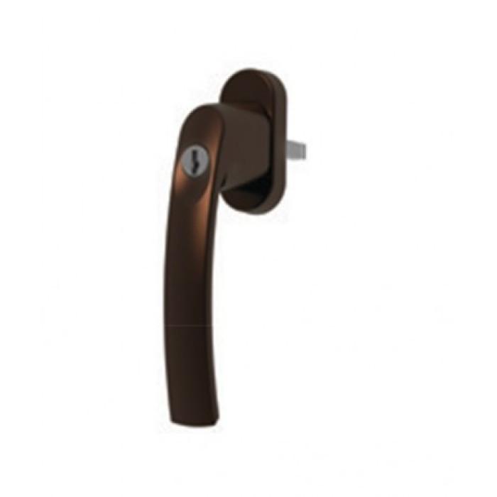 Window Handle VALNES lockable brown