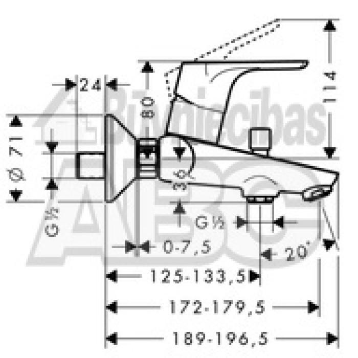 HG31940000 Focus maisītājs  vannas