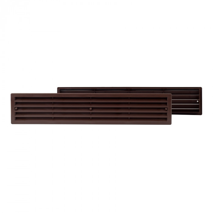door grille plastic, 450x92mm, brown