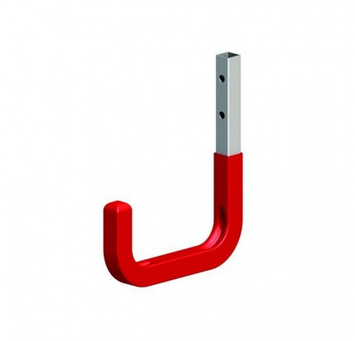 Wall hook 80x115 max.80kg Steel/Silver/red