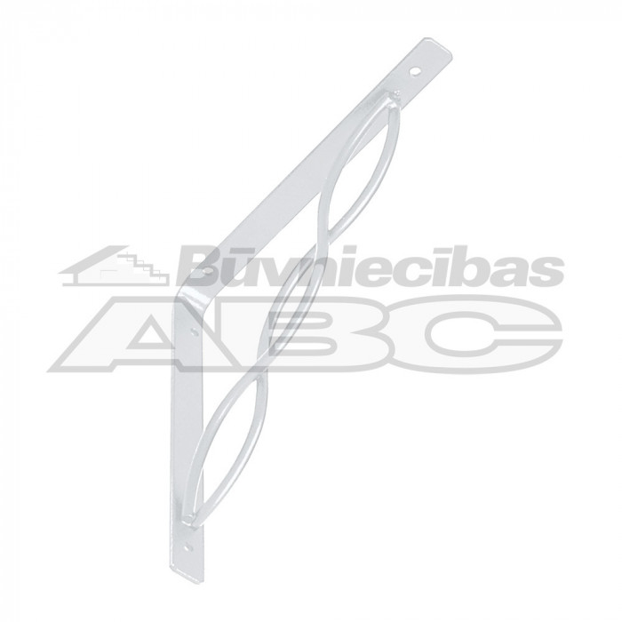 Bracket with interlaced rod 150*150 white