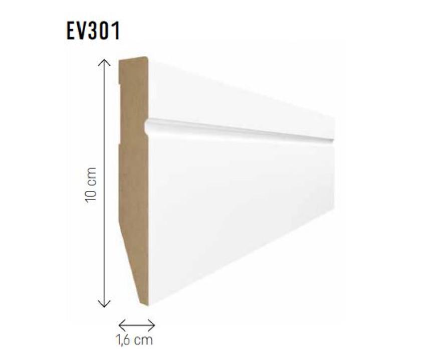 Skirting board MDF Evera 100 white EV301 100x16x2400mm