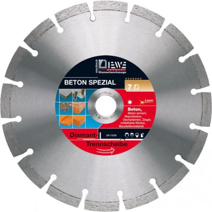 Dimanta ripa armētam betonam/celtniecības mat. D350/25.4 BETON SPEZIAL, 10mm segments 46