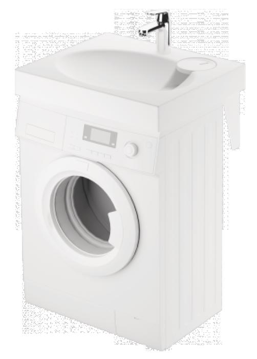 PAA Izlietne CLARO MINI, balta 600x500 komplektā ar kronšteiniem