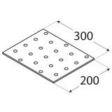 SAVIENOJUMU PLATE  300x200x2.0 mm